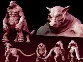 zbrush sculpt 01 Term1 by Kromnz