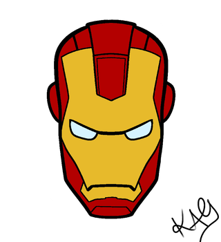 Iron Man face by PinkTribble