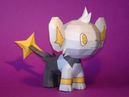 Shinx Papercraft by Skele-kitty