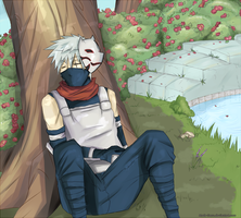 Sleepy Kakashi. by Mada-Sasu