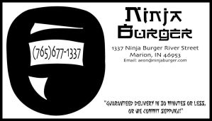 Ninja Burger Business Card by AtherineEteweo