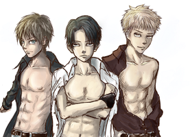 Attack On Titan: Triple Perfection: Color by TruPink