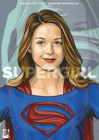 Mellisa Benoist as Supergirl by laksanardie