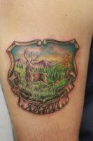 Deer Tattoo by seanspoison