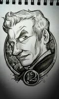 12th Doctor: warm-up art by rori