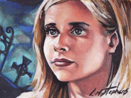 Buffy ACEO by sullen-skrewt