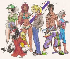 Group Pic Colored+FINISHED+ by Onimakar