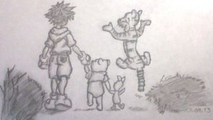 kingdom hearts winnie the pooh by thelifeofawallflower