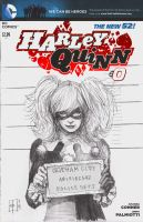 Harley Quinn Wondercon sketch cover by tomasoverbai