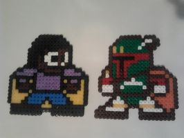 Lando and Bobafett Megaman Hama-Bead Art by Tommassey250
