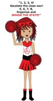 Anarcho-Communist Cheerleader by CaptainVendetta