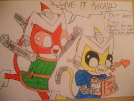 Sibling fight by gibina4ever