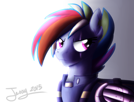Badass Rainbow Dash by jessycrackers
