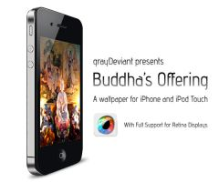 Buddhas Offering iPhone by grayDeviant