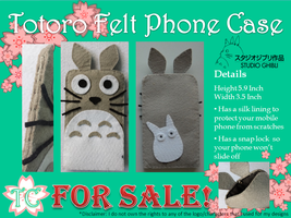 Totoro Felt Phone Case by TealCreations