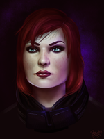 Mass Effect: Commander Shepard by ruthiebutt