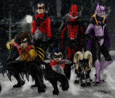 Noibatgirl and the Fletchlings by DragonlordRynn