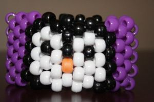 Requested Penguin Kandi Cuff by xXAnnieLollipopXx