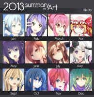 2013 art summary by Riki-to