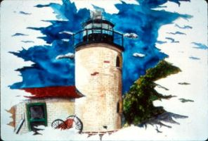 Lighthouse Watercolor by PatrickJoseph