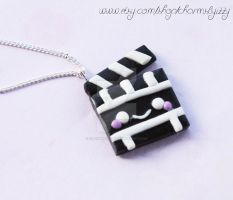 Kawaii Unique Polymer Clay Director's Slate Charm by CharmsByIzzy