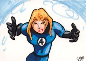 Invisible Girl sketch card by tdastick