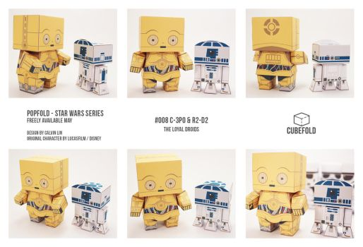 POPFOLD - C-3P0 and R2-D2 by CubieCal