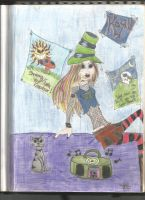 Trippy Girl with a Stovepipe Hat- 2005 by TJSS08