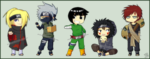 Naruto Chibis by Jubblier