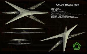Cylon Basestar (new) ortho by unusualsuspex