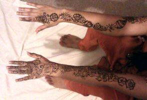 Bride's Henna done by me :') by xe2x