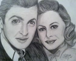 James Stewart and Donna Reed by khrysta