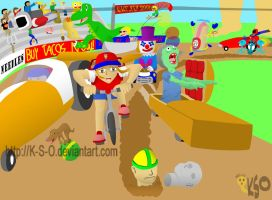 Pizza Delivery - Wacky Racing by K-S-O