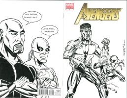 AVENGERS #7 SKETCH COVER 6 by FanBoy67