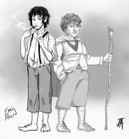 Frodo And Sam LOTR (Mash up) by comicfreak41691