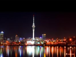 Auckland at Night by vladstudio