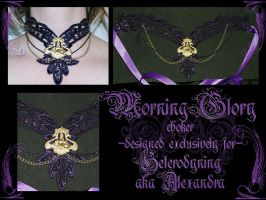 Morning Glory choker by redLillith