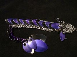Chainmail Puple and Black Dragon by xThe-Royal-Dragonx
