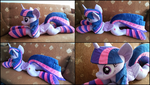 Lifesize Twilight Sparkle plush with socks by RosaMariposaCrafts
