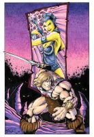 Masters of the Universe - He-Man vs Evil-Lyn by Killersha