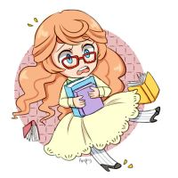Bookshop girl by Amphany
