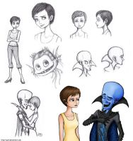 Megamind Sketches by JenL