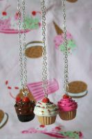 Everyday Cupcake Necklace by lessthan3chrissy