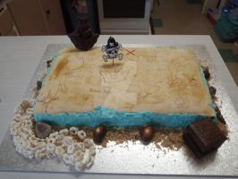 Treasure Map Cake 1 by The-Ice-Flower