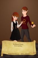 Ginny and Ron Weasley by KendraKickz0220