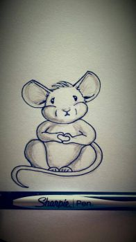 chubby little mouse by Creative-native-nz