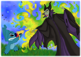Stitch vs. Maleficent part 3 by andy-pants