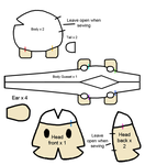 Harvest Moon Sheep plush pattern by thesqueaky
