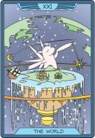 "Tarot Draconica ""The World"" by Aoth"