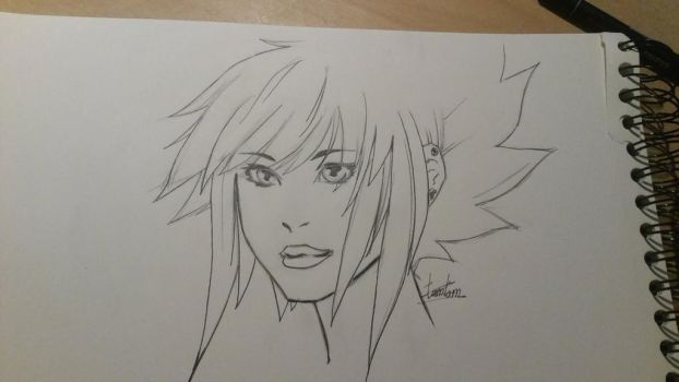Invincibelle Sketch by me, while watching EWG DRS by TamTamura